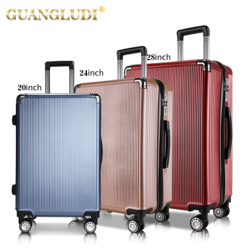 Hot selling abs pc luggage bags cases