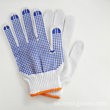 Billiga PVC Dotted White Cotton Work Glove