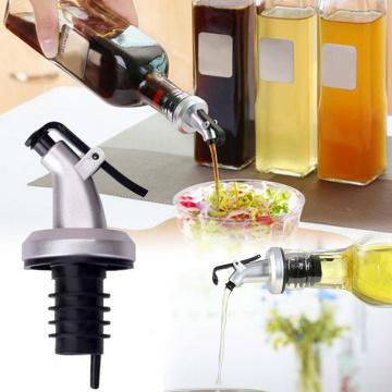 Olive Oil Sprayer Tapered Liquor Pourer Wine Oil Bottle Pour Spout Stopper Stainless Steel Champagne Wine Bottle Stopper