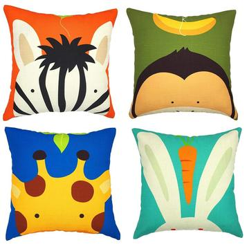 cute customized cartoon digital print kids pillow