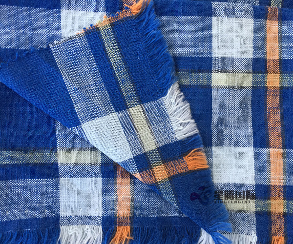 Both Sides Of Bamboo Fiber Checked Plaid Fabric