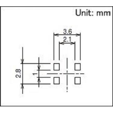Small Two-way Action Switch without Positioning Pin