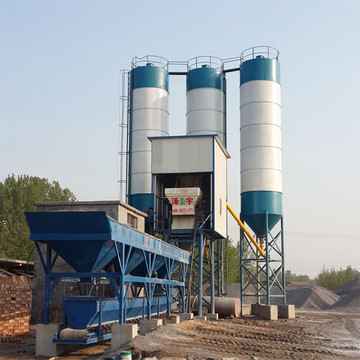 HZS50 capacity control construction concrete batching plant