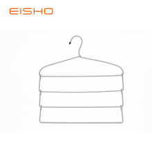 EISHO Foldable Multi-layer Metal Rope Scarf Hangers
