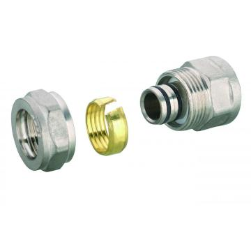 straight female coupler brass compression fitting