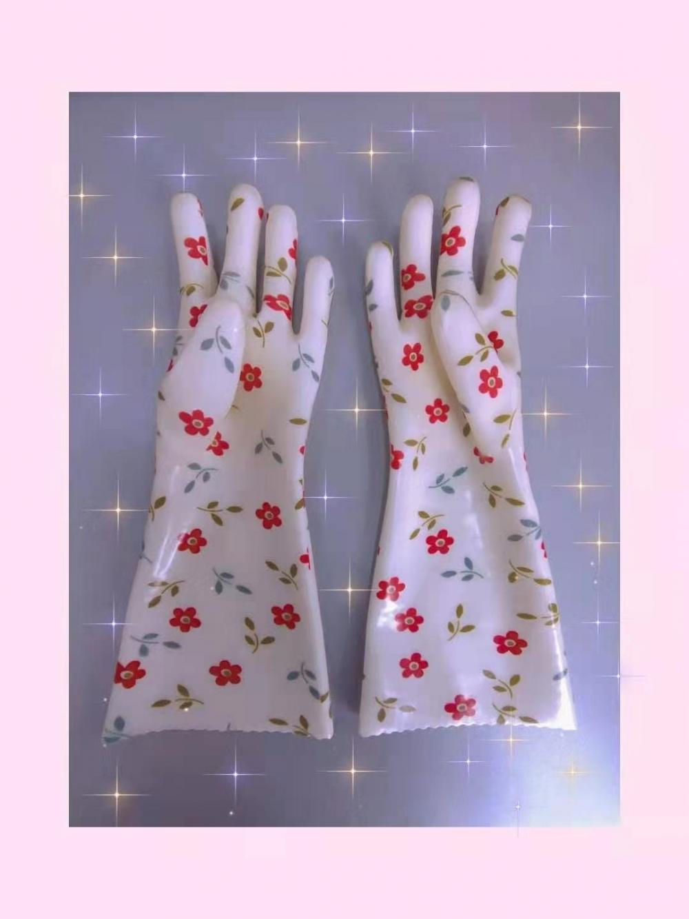PVC Coated gloves for household