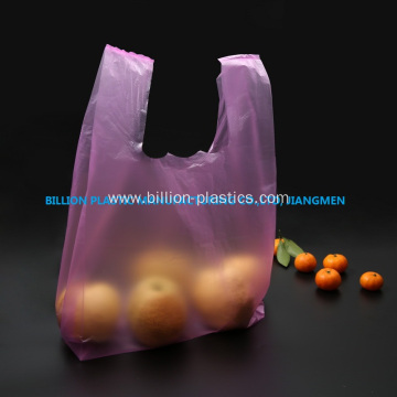 Purple Plastic Shopping Bag