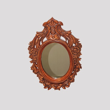 Luxury Retro Mirror with Wood Frame