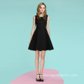 Sleeveless Vintage Dress Black Dress For Lady