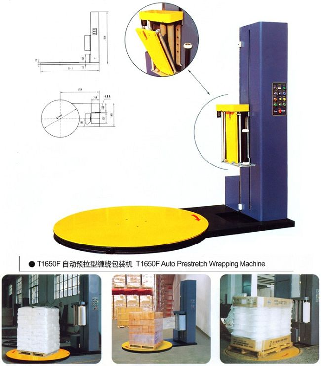 Economic pre-stretch Pallet wrapping machine