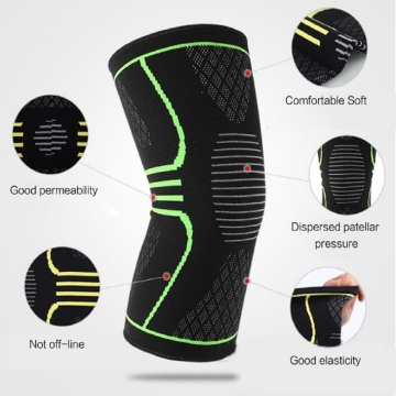 Magnetic compression knee support sleeves brace