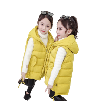 Girls Winter Thicken Warm Zip Up Sleeveless Vest