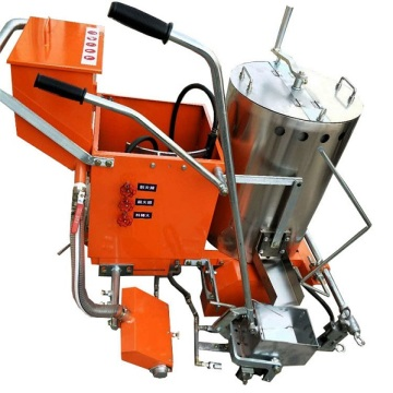 thermoplastic road marking machine wth equipment