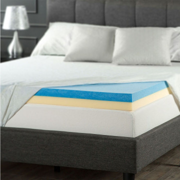 Comfity Side Sleep Friendly Gel Foam Mattress Topper