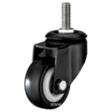 2.5 Inch Threaded Steam Swivel PU Material Small Caster