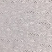 White Poly Elastic Jacquard Fabric