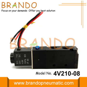 24 Volt 4V210-08 5/2 Pneumatic Electric Solenoid Valve
