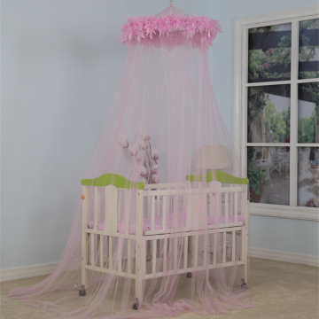 2020 Mosquito net with Pink Feather Lack