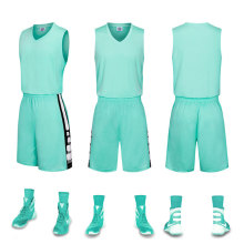 Conjunto de jersey en blanco uniforme de baloncesto al por mayor simple