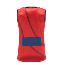Mens Red Dry Fit Soccer Wear Vest