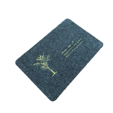 Soft surface waterproof embroidered beautiful door mat