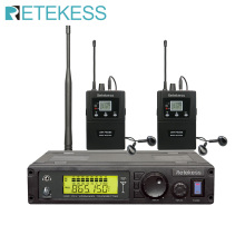 Retekess Conference System Simultaneous Interpretation RF Transmitter +2 Wireless Receiver T127 with Earphone Microphone System