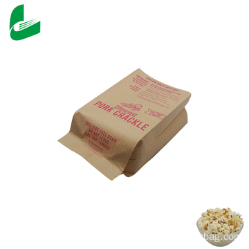 Brown kraft greaseproof paper microwave popcorn bags