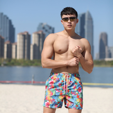 Microfiber Polyester Coating Digital Print Swim Short