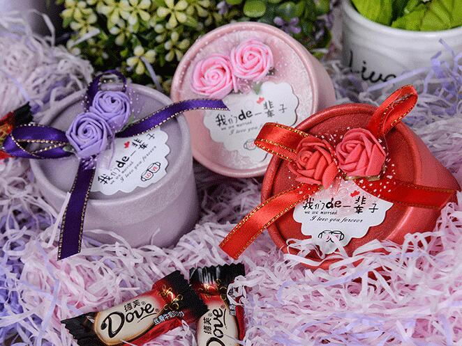 Round wedding candy box free samples