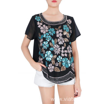 Multi Colors Embroidered Woman's Blouse