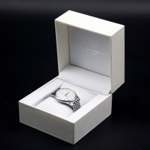 Custom Logo Hard Paper Cardboard White Watch Box