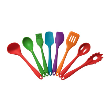 8 pcs silicone kitchen utensils set