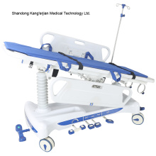 Hospital medical stretcher bed for patient transfer