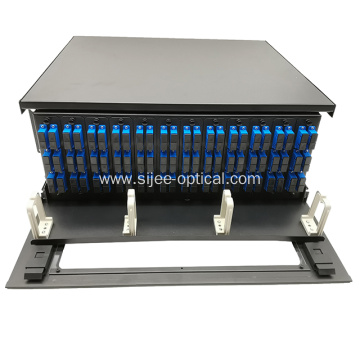 4U 19' 144 F Fiber High Density Rack Mount Patch Panel