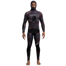 Seaskin Camouflage Hooded Spearfishing Wetsuits for Men