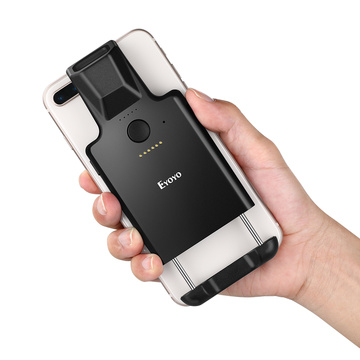 Eyoyo 1D Back Clip Bluetooth Barcode Scanner Work with Phone, Portable Barcode Reader with Bluetooth Function Compatible