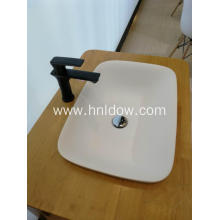 Semi embedded pure acrylic Wash Basin for cabinet