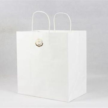 White Kraft Paper Shopping Bags