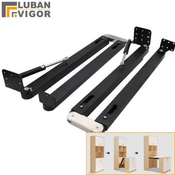 Hidden desktop folding connector accessories,Fold down stretch dining table Bar cabinet cabinet desk hinges,Complete sets