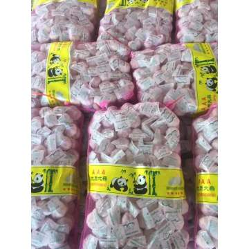 Chinese normal white pure white garlic mesh bag