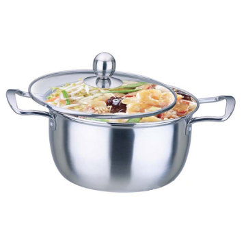 Stainless Steel Double Handle Sauce Pot Double Bottom