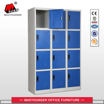 Blue 3 Lines 12 Doors Steel Locker