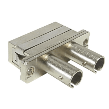 Duplex Metal ST to SC Fiber Optic Adapter