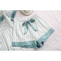 striped pajama night wear sets
