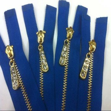 12Inch golden brass zippers for garment on sale