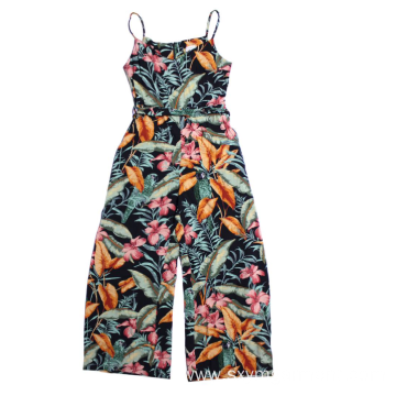 New design Ladies viscose print overalls