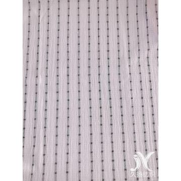 White Black Stripes Crepe Fabric