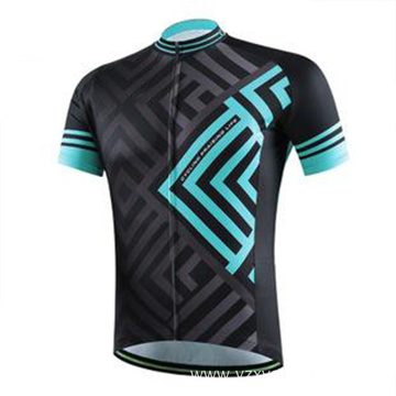 Black and blue cycling suit