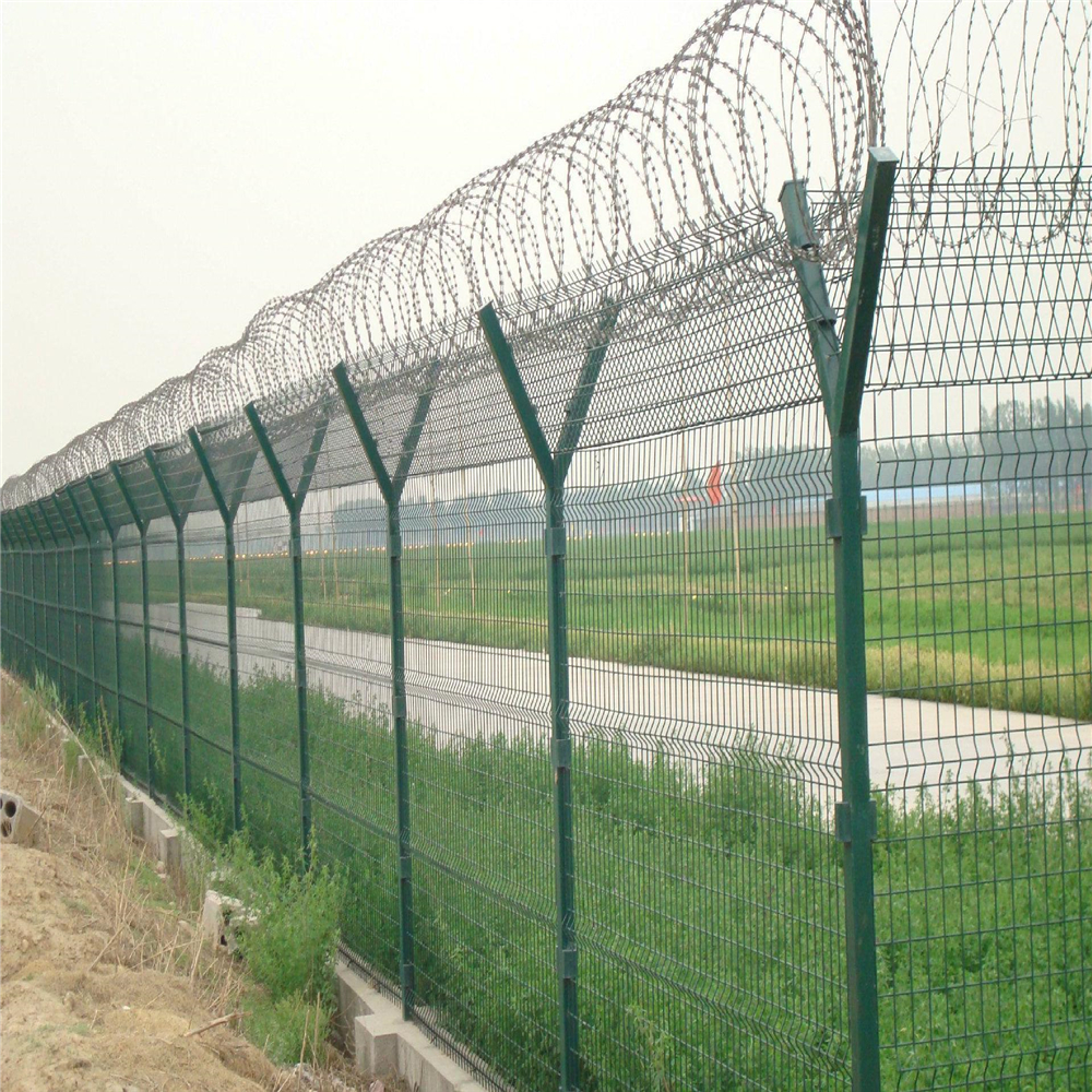Anti Climb High Security Airport Fence