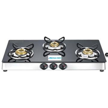 Marvel Plus Glass Top Gas Table 3 Burners